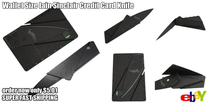 credit card sharp knife ebay sale